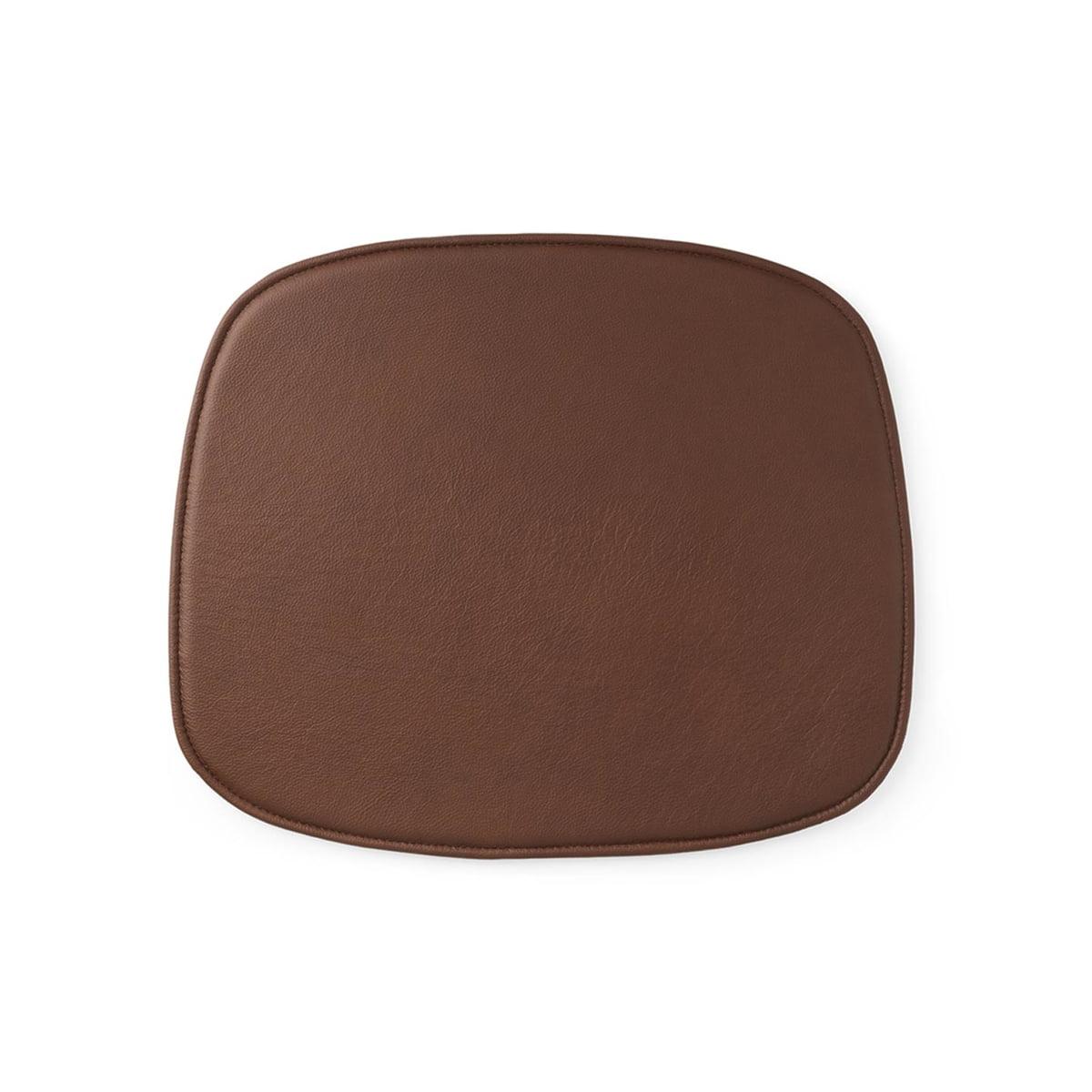 Normann Copenhagen - Sitzkissen zum Form Stuhl, Leder brandy