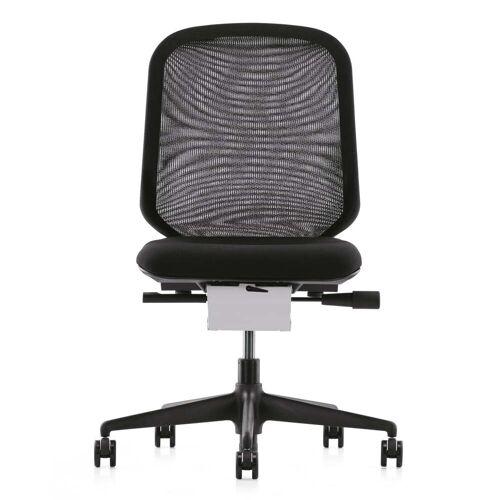 Vitra - MedaPal Bürodrehstuhl, schwarz, Teppichrollen