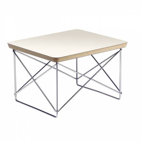 Vitra - Eames Occasional Table LTR, HPL weiß / Chrom