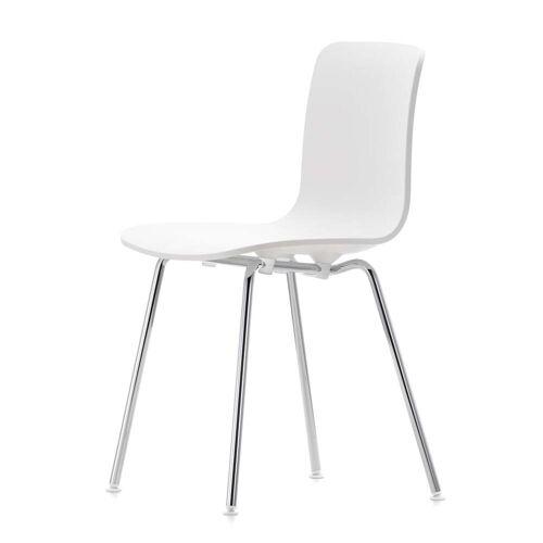 Vitra - Hal Tube Stuhl, weiß / chrom