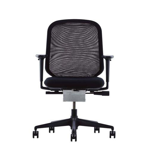 Vitra - MedaPal Bürodrehstuhl, schwarz, Armlehnen, Teppichrollen