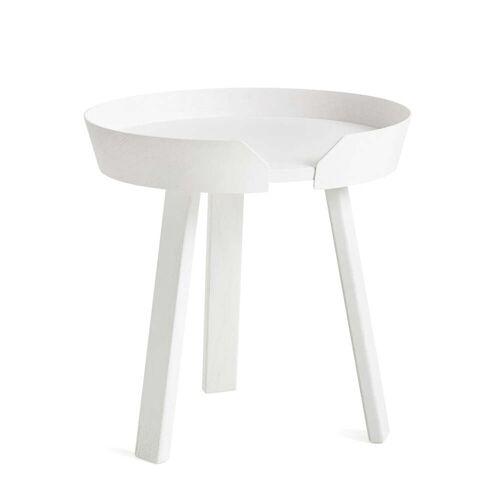 Muuto - Around Beistelltisch, Ø 45 cm, weiß