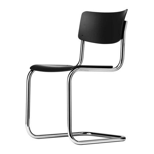 Thonet - S 43 Stuhl, Chrom / schwarz (TP 29)