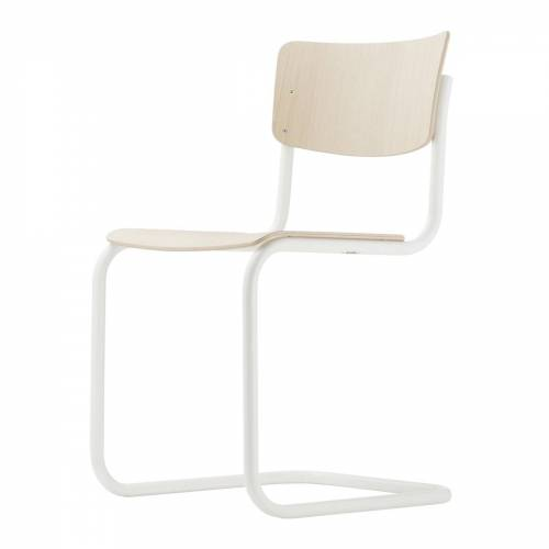 Thonet - S 43 Stuhl, weiß / Buche hell (TP 107)