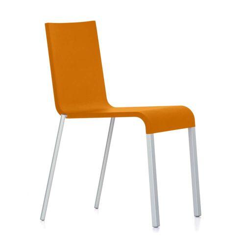 Vitra - .03 Stuhl stapelbar, silber (RAL 9006) / mango