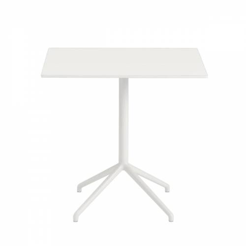 Muuto - Still Café Tisch H 73 cm, 75 x 65 cm, weiß