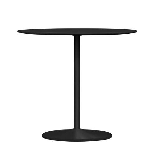 Montana - Panton Esstisch, Ø 90 x H 72 cm, Linoleum schwarz / schwarz