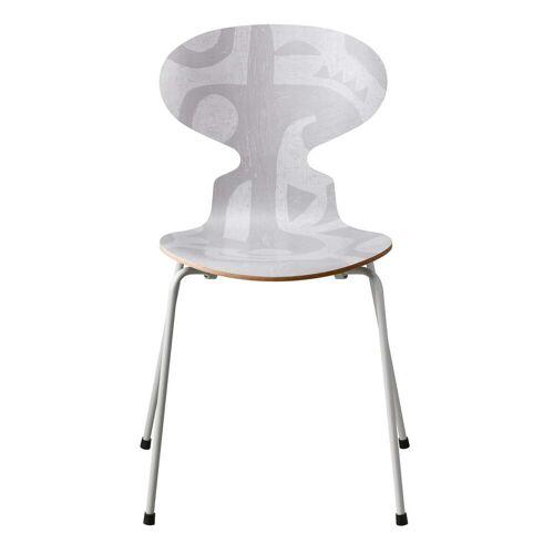Fritz Hansen - Die Ameise Stuhl, Deco Silhouette grau (4 Beine)