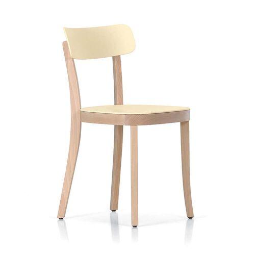 Vitra - Basel Chair, natur / crème (Kunststoffgleiter)