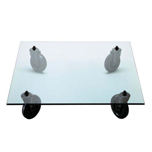 FontanaArte - Tavolino con ruote Sofatisch, 100x100 cm