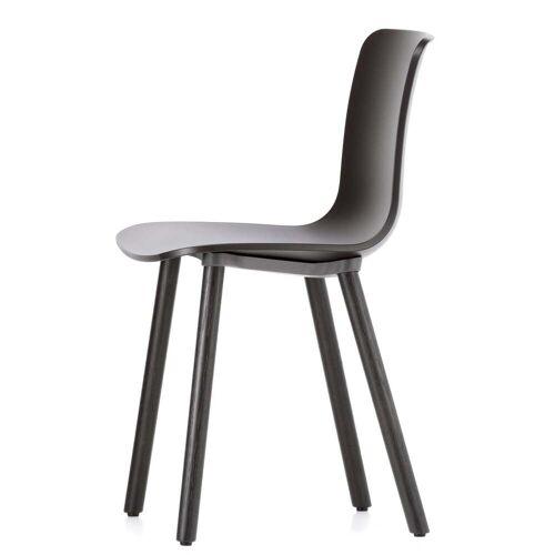 Vitra - Hal Wood Stuhl, basic dark / Eiche dunkel / Kunststoffgleiter basic dark