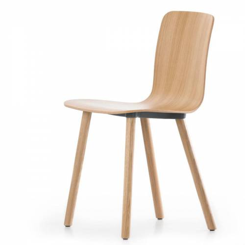 Vitra - Hal Ply Wood, Eiche hell / Kunststoffgleiter