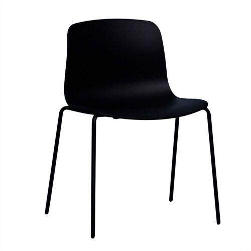 HAY - About A Chair AAC 16, Stahlrohr schwarz / schwarz