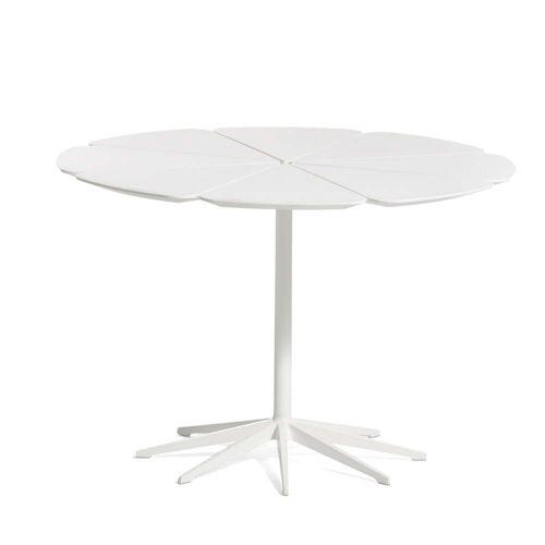 Knoll - Petal Outdoor-Esstisch H 71 Ø 107 cm, weiß