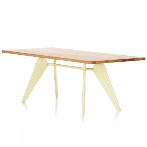 Vitra - EM Table Esstisch (Massivholz), 240 cm, Eiche natur/ ecru