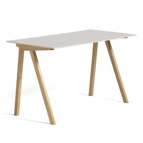 HAY - Copenhague CPH90 Schreibtisch 130 x 65 cm, Eiche / Linoleum cremeweiß (Mushroom 4176)