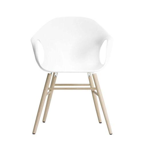Kristalia - Elephant Stuhl, weiß / Eiche