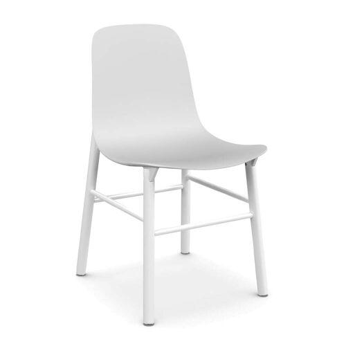 Kristalia - Sharky Stuhl, weiß / weiß
