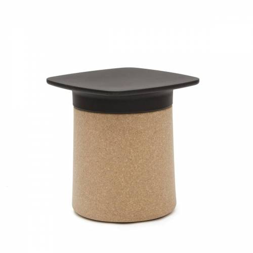 Kristalia - Degree Beistelltisch, Kork / schwarz