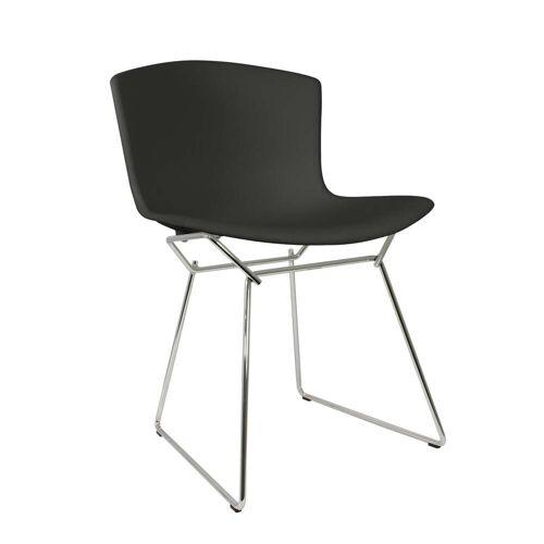 Knoll - Bertoia Kunststoff-Stuhl, Chrom / schwarz