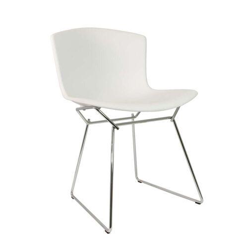 Knoll - Bertoia Kunststoff-Stuhl, Chrom / weiß