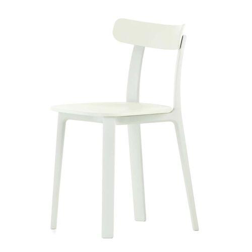 Vitra - All Plastic Chair, weiß, (Kunststoffgleiter)