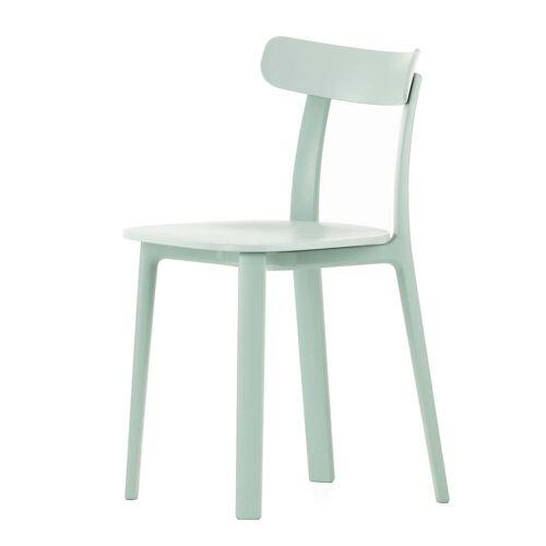 Vitra - All Plastic Chair, eisgrau (Kunststoffgleiter)