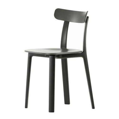 Vitra - All Plastic Chair, dunkelgrau (Kunststoffgleiter)