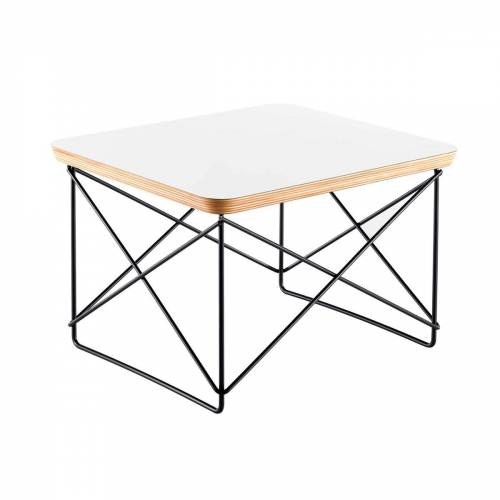 Vitra - Eames Occasional Table LTR, HPL weiß / basic dark