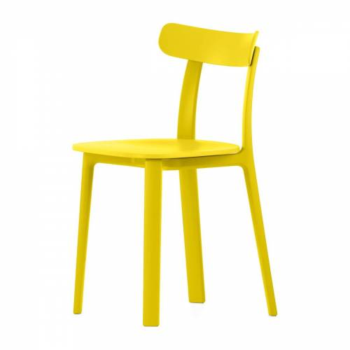 Vitra - All Plastic Chair, butterblume (Kunststoffgleiter)
