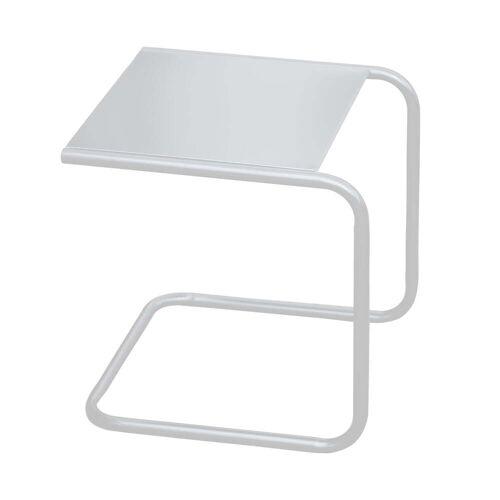 Fiam - Club Beistelltisch, Aluminium weiß / weiß