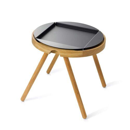 Auerberg - Vorteils-Set: Tablett-Tisch klein, Eiche + Alu-Tablett schwarz