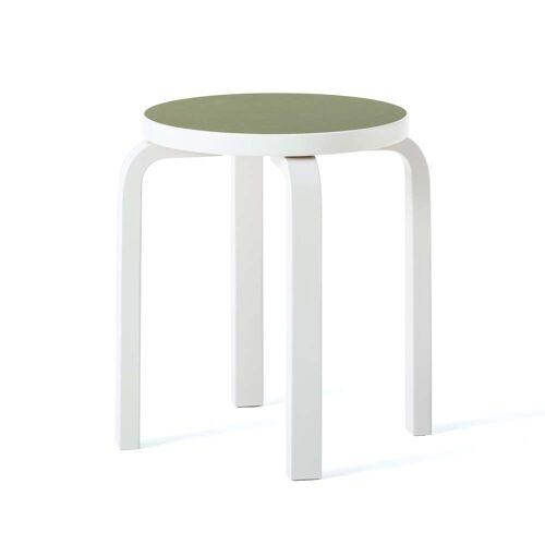 Artek - E60 Hocker, stone white / olive
