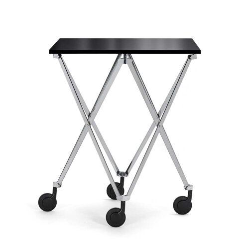 ClassiCon - Sax Rolltisch, chrom / Kristallglas schwarz