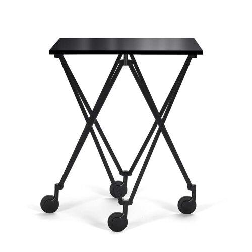 ClassiCon - Sax Rolltisch, schwarz / Kristallglas schwarz