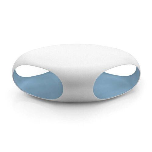 Bonaldo - Pebble Sofatisch, weiß / pulverblau