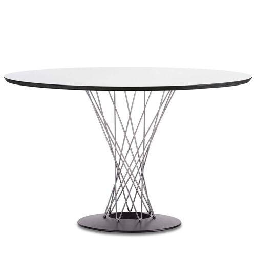 Vitra - Dining Table by Isamu Noguchi, Ø 121 cm, weiß / Chrom