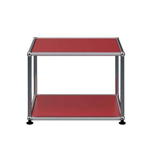 USM Haller - Beistelltisch, 52.3 x 52.3 cm, USM rubinrot