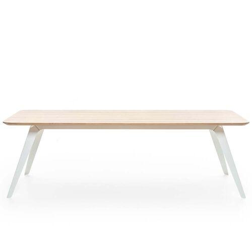 Puik - Fold Esstisch 240 × 100 cm, Eiche / weiß