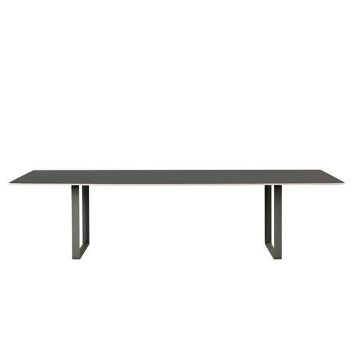 Muuto - 70/70 Esstisch, 295 x 108 cm, schwarz (Linoleum)