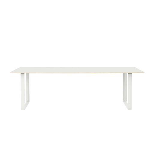 Muuto - 70/70 Esstisch, 255 x 108 cm, weiß (Laminat)