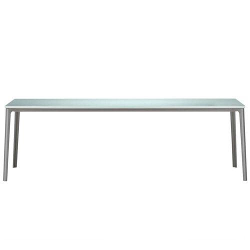 Vitra - Plate Dining Table, 220 x 100 cm, ESG-Floatglas satiniert / erdgrau