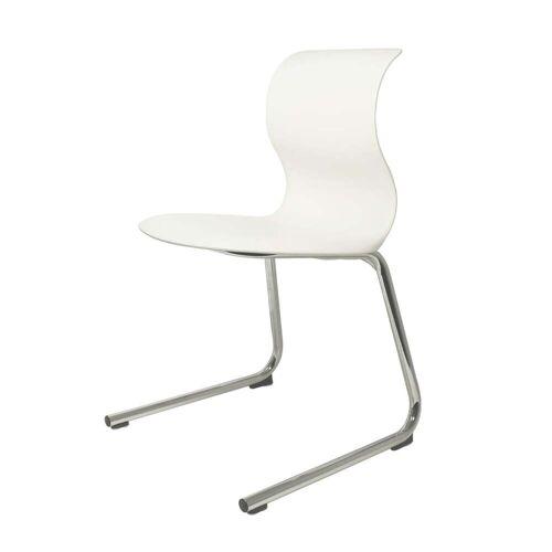 Flötotto - Pro 6 C-Gestell Chrom, Sitzschale schneeweiß (RAL 9002)