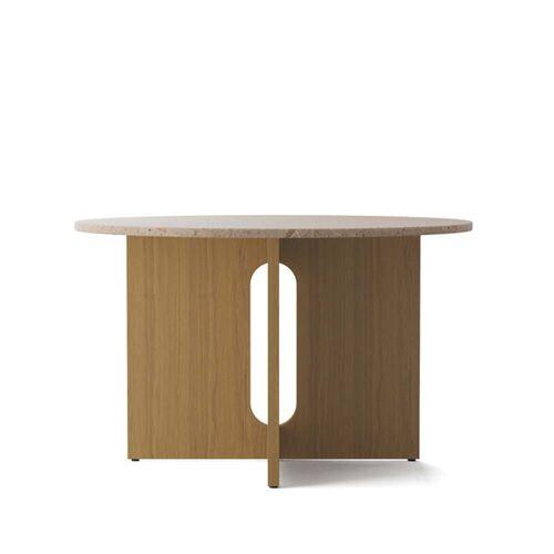 Menu - Androgyne Tisch, Ø 120 x H 73 cm, Eiche natur / Sandstein