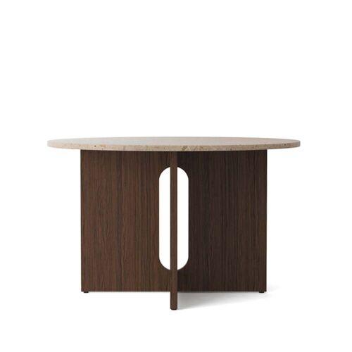 Menu - Androgyne Tisch, Ø 120 x H 73 cm, Eiche dunkel / Sandstein