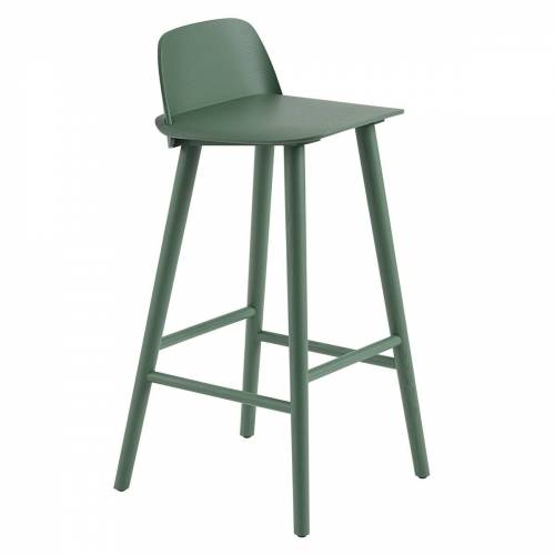 Muuto - Nerd Barhocker H 75 cm, grün