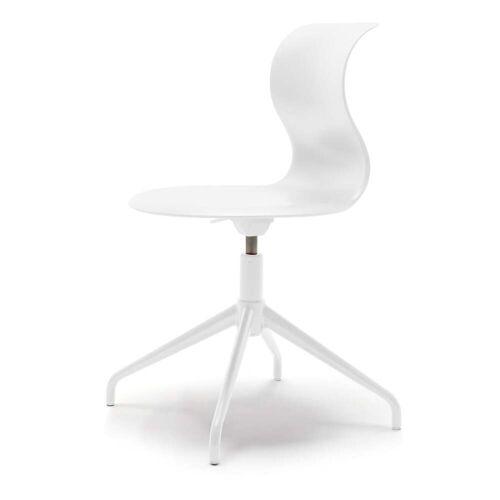 Flötotto - Pro Stuhl Vierstern-Aluminiumgestell, schneeweiß (Filzgleiter)