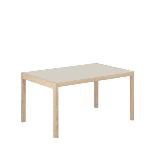 Muuto - Workshop Esstisch, 140 x 92 cm, Eiche / Linoleum warm grey