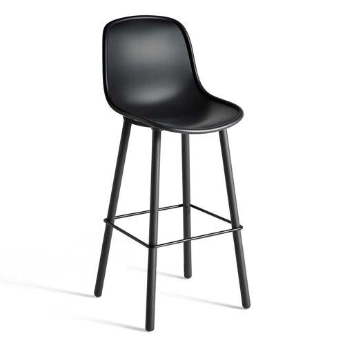 HAY - Neu12 Barhocker, soft black (Sitzhöhe: 75 cm)