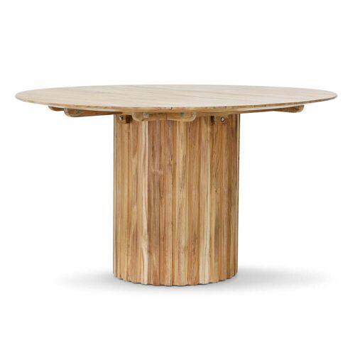 HKliving - Pillar Esstisch rund, Ø 140 cm, teak